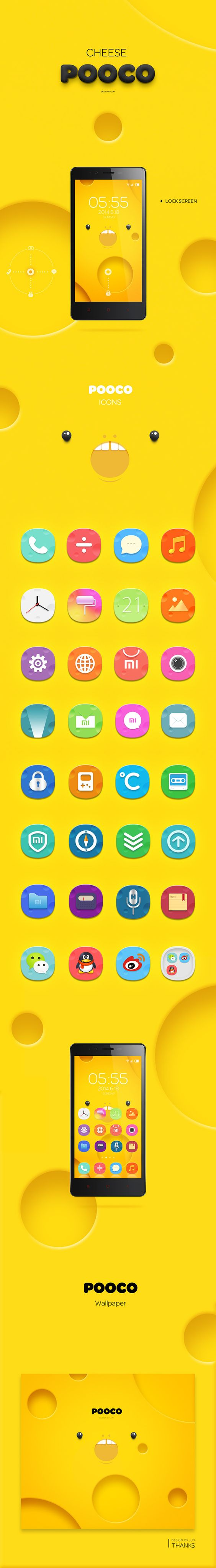 miui design , do you like cheese pooco? on Behance