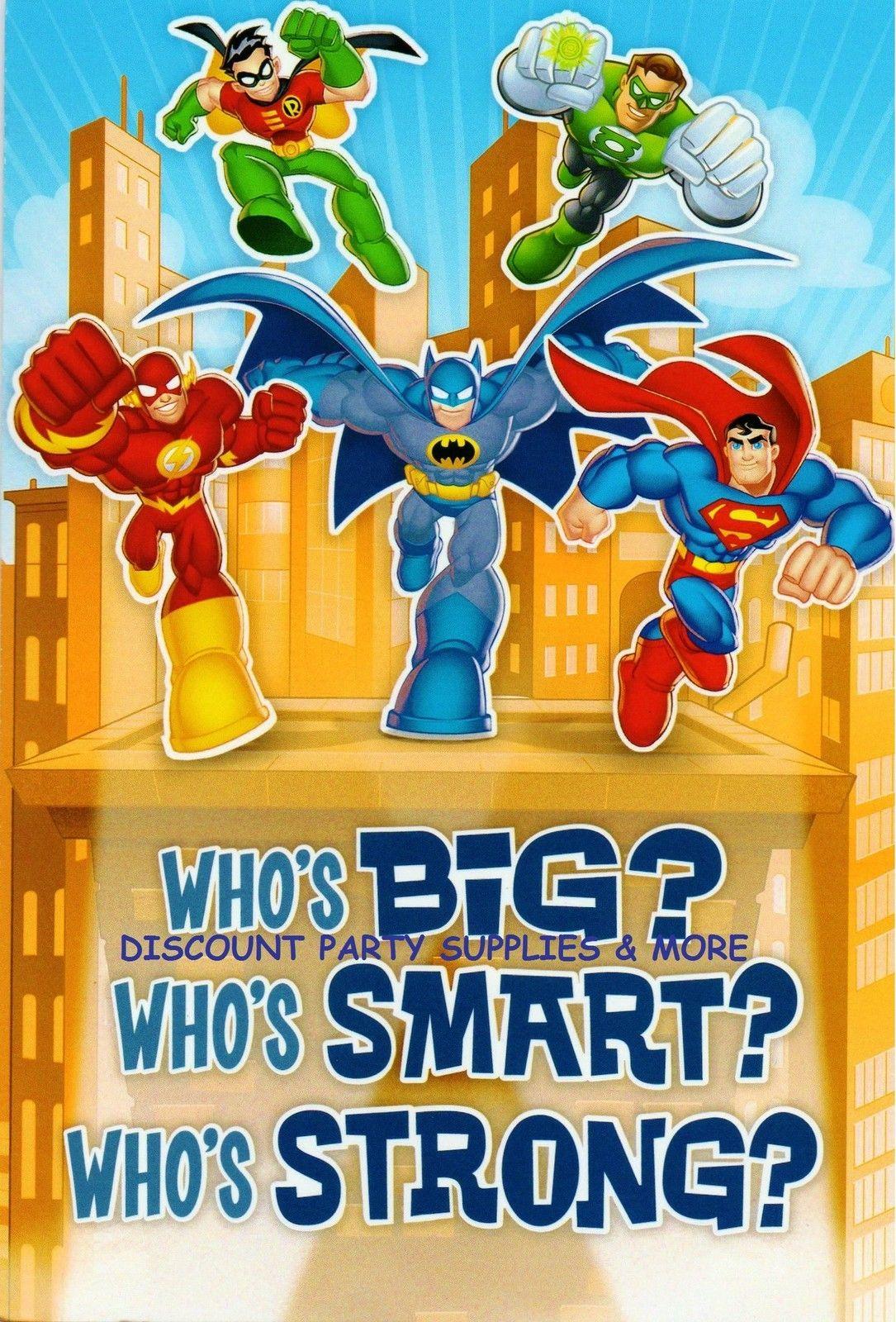 Justice League Superman Batman Green Lantern Flash Robin Birthday