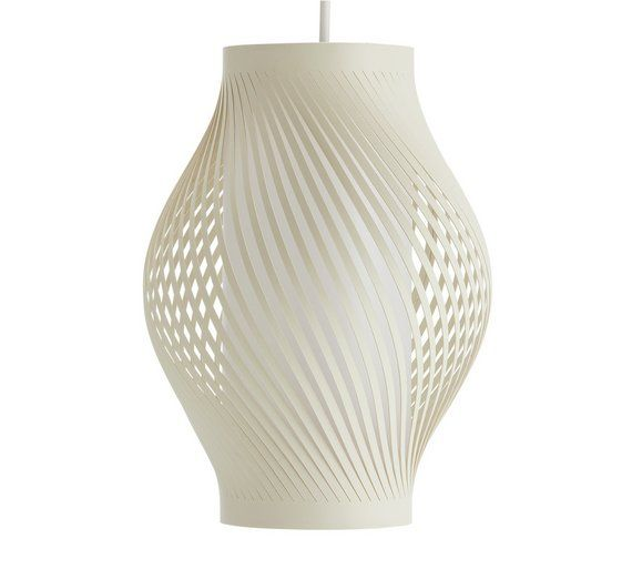 Buy collection twist shade white at argos co uk your online shop · lamp shadeshome and gardentwistsvase