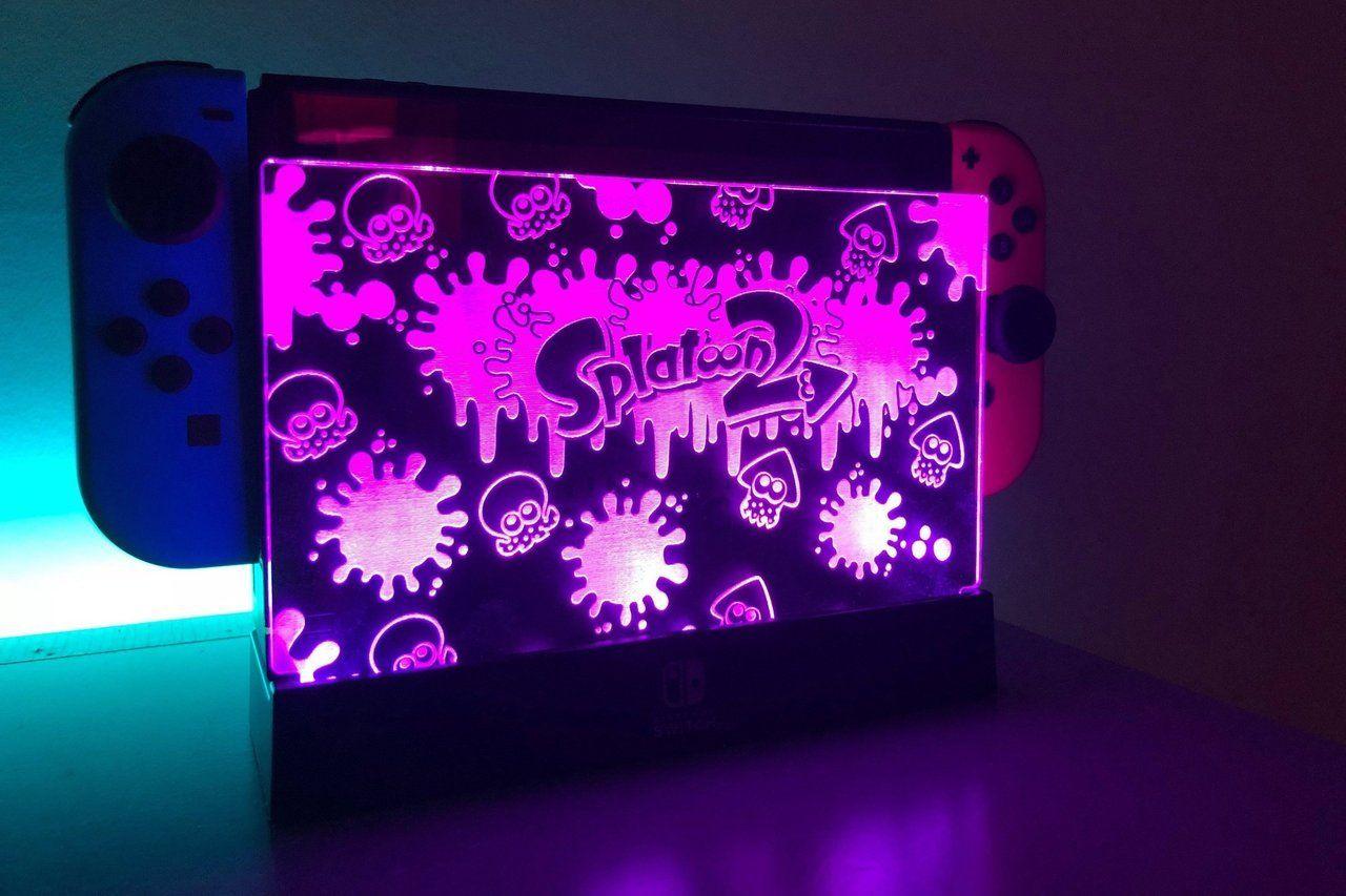 Nintendo Switch LED Dock Panels made by CO2Studio - #2 #arms #art #bros #crafts #eevee #etsy #games #gaming #geek #geekery #gifts #illustration #mario #merch #Metroid #nintendo #octopath #pikachu #pokemon #retro #retrogaming #SMAsh #splatoon #ssb #ssbu #super #switch #traveler #ultimate #video #xenoblade #zelda