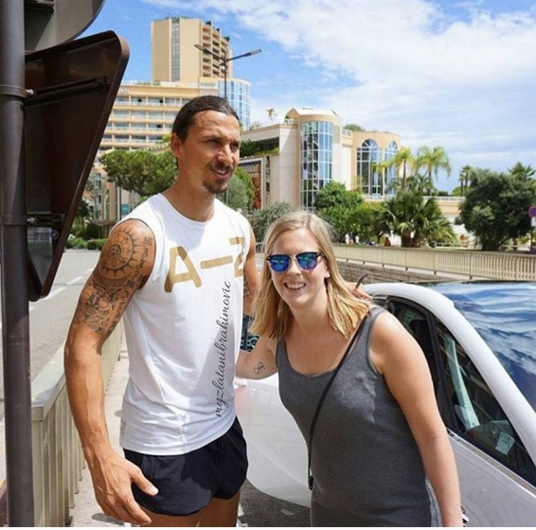 Ibra With A Fan Before Going To The Gym Monaco August 10th