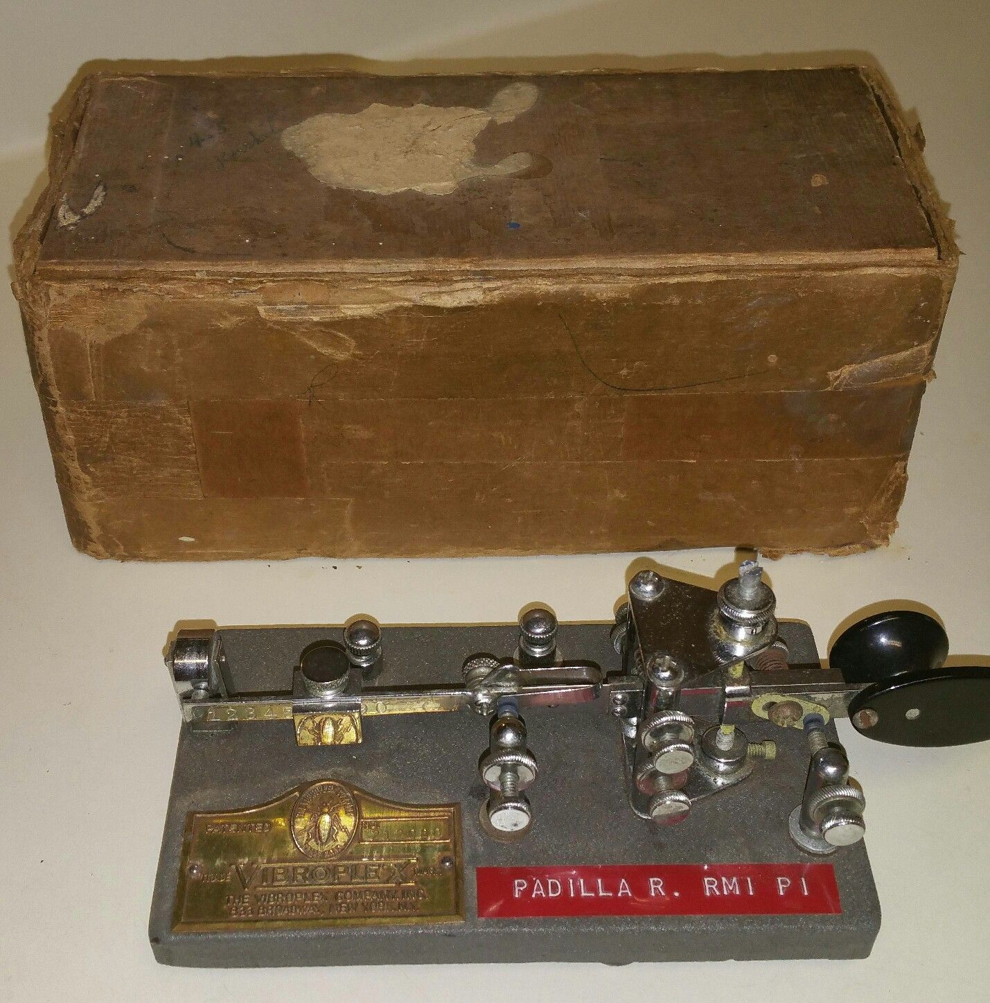 Vibroplex Champion Bug & Original Box 1960 SN# 212090 Telegraph Key