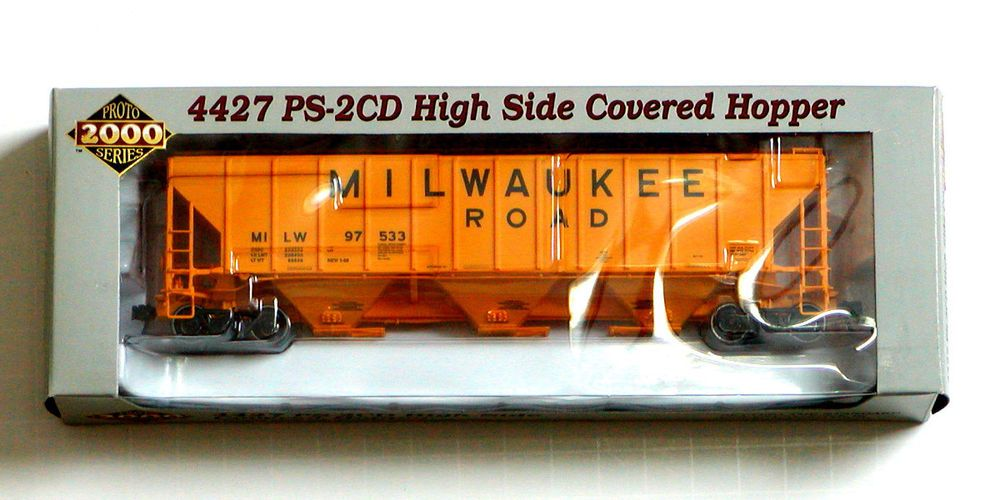 HO PROTO 2000 4427 PS2-CD High-Side Covered Hoppers RAILROADS