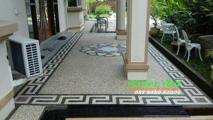 Spesialis Pembuatan Lantai Garasi Batu Sikat Motif Jakarta Aster Art Jasa Pasang Lantai Carpot Batu Sikat Motif Tukang Carpot Lantai Minimalis Taman Jepang