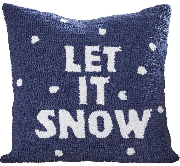 Three Posts Haggerty Let It Snow Throw Pillow Kids Decorative Pillows Throw Pillows White Decorative Pillows