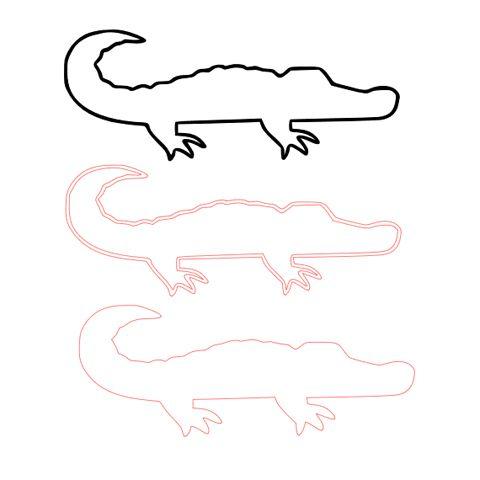 Alligator sillhouette for preston 39 s big boy room baby crowell pinterest dessin - Crocodile dessin ...