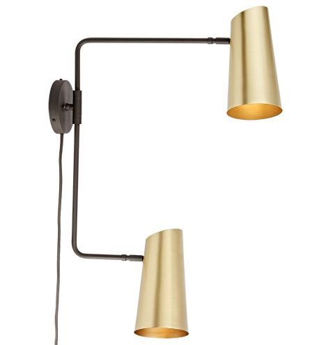 Cypress Double Swing Arm Sconce Plug In Lighting Double