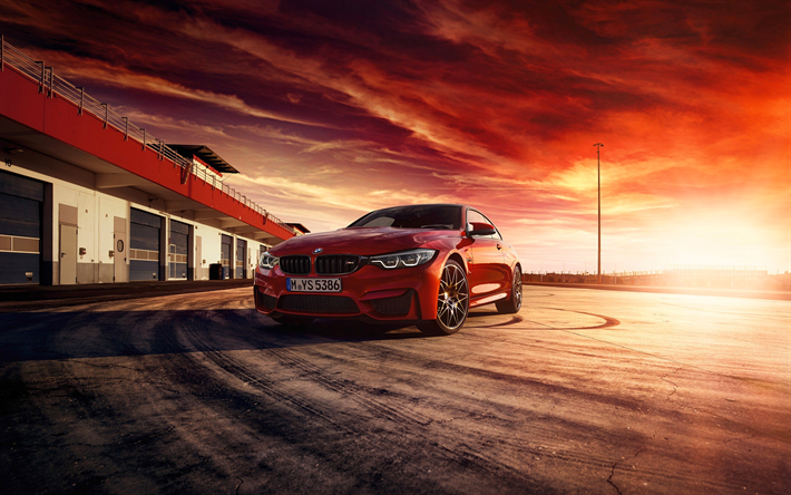 Download Wallpapers Bmw M4 Coupe 2017 Red Sports Coupe Racing Track Sunset Red M4 German Cars Bmw Besthqwallpapers Com Bmw M4 Bmw M4 Coupe M4 Coupe