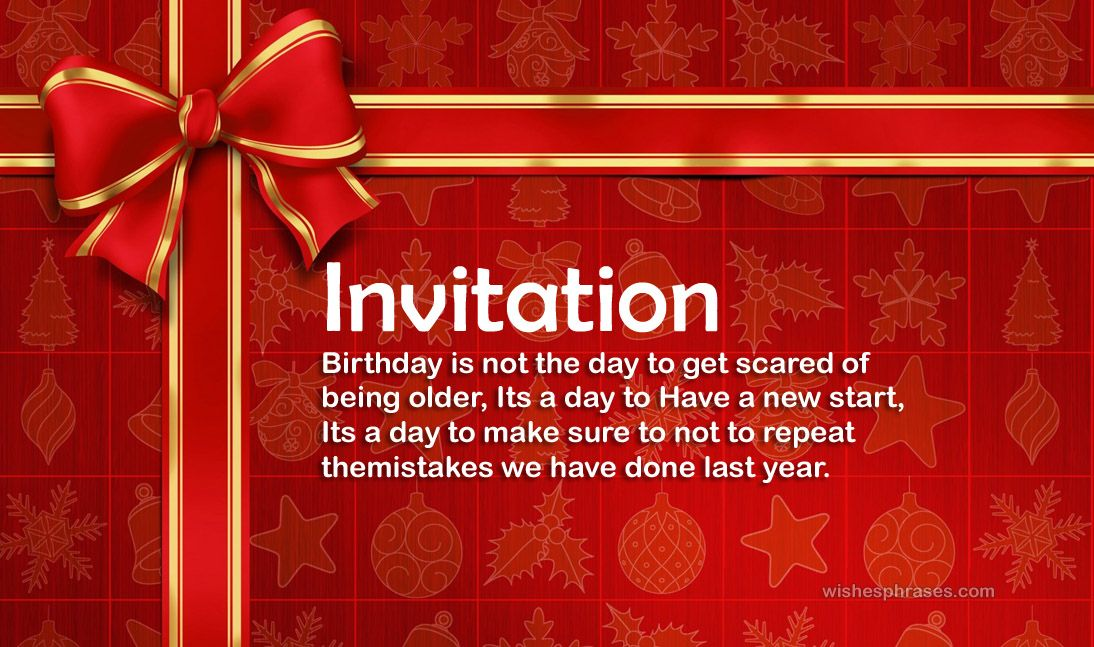 Birthday Invitation Message For Friends Birthday Wording
