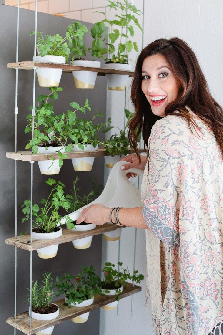 Custom Potted Hanging Herb Garden DIY