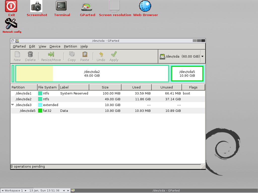 GParted Live 0 24 0-2 GParted is a free partition editor for