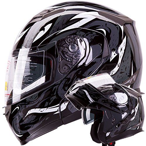 Snowmobile Helmets For Sale >> Viper Modular Dual Visor Motorcycle Snowmobile Helmet Dot