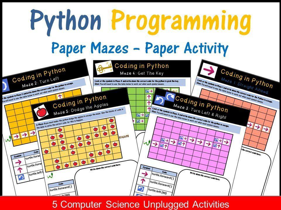 Image of Python Programming Coding Mazes Coding Unplugged