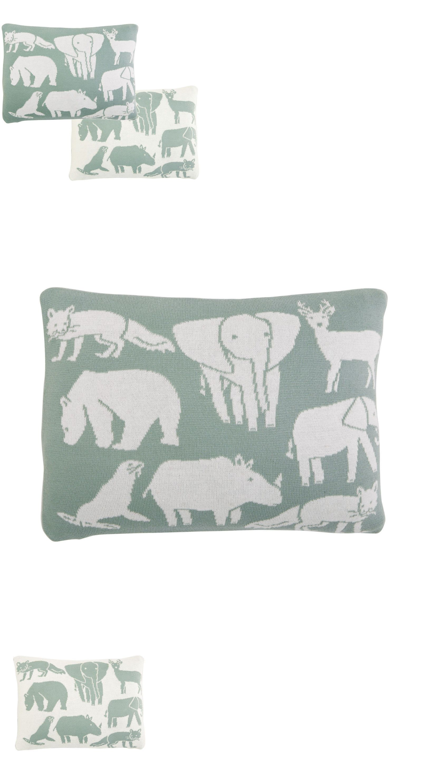 Decorative Nursery Pillows 180906 Dwellstudio Soft Knit Reversible Print Pillow Caravan Baby Animals It Now Only 12 76 On Ebay