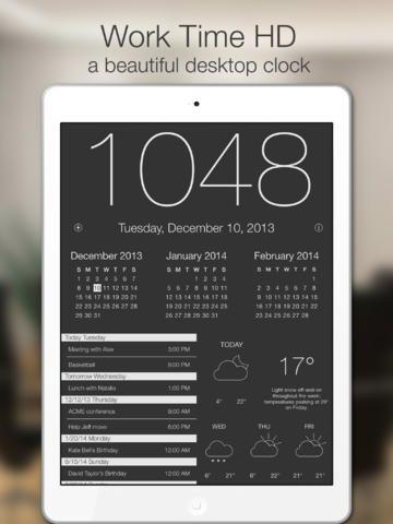 iPad App Work Time HD - Elegant desk top clock for iPad ...