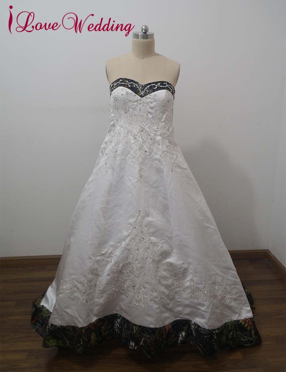 Click to buy ucuc ilovewedding ball gown camo wedding dresses