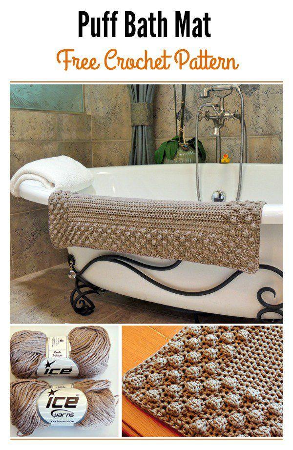 Crochet Bath Mat Free Patterns   Patrones y Tejido