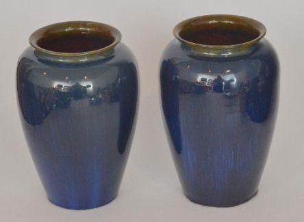 A Pair Of Later 20th Century Bourne Denby Vase Of High Shouldered
