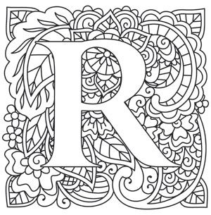 Craft Delicate Charm With This Mehndi Style Letter Downloads As A PDF Use Pattern Monogram AlphabetAlphabet DesignEmbroidery AlphabetColoring