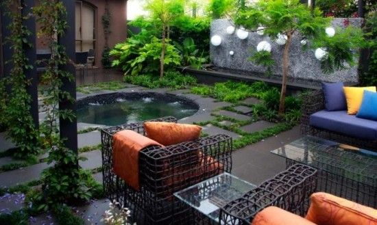 Superb Exotic And Simple Garden Design Idea By Eckersley Garden Architecture    Home Design And Decorating  