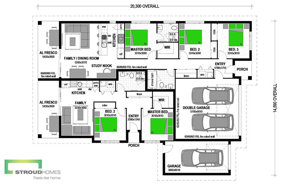 Dual occupancy homes plans escortsea for Dual living house plans
