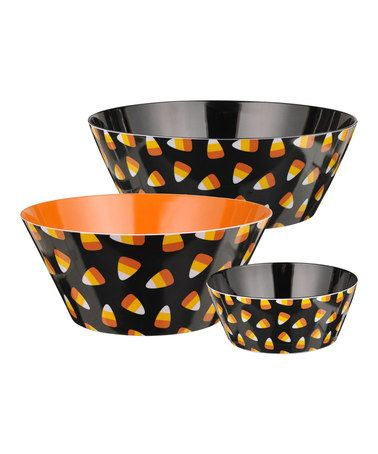 Another great find on #zulily! Candy Corn Bowl Set #zulilyfinds