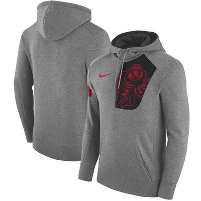 Ohio State Buckeyes Nike Fly Rush Pullover Hoodie - Charcoal