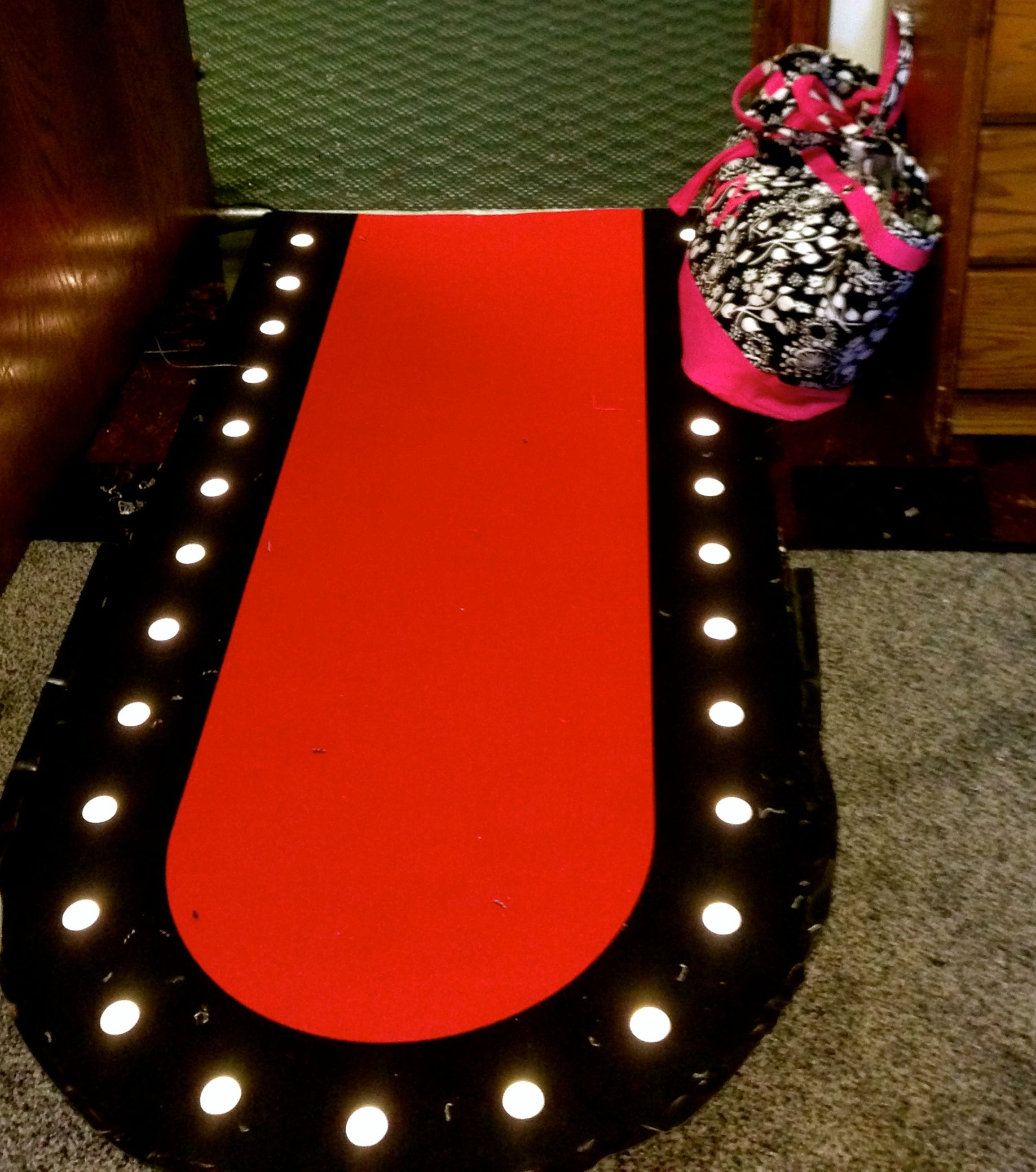 This Led Light Up Red Carpet Runway Love This Rug From Ikea It Flashes And Strobes Too
