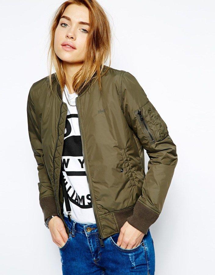Lightweight Bomber Jacket Green | Green bomber jacket, Dark and ...