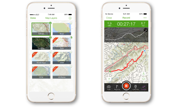 All Trails free app! Find hiking trails near you that are
