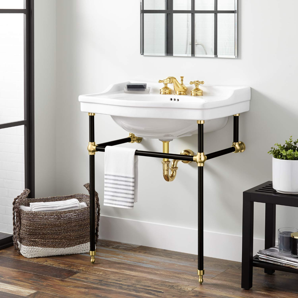 Console Sink With Stand Google Search In 2020 Console Sink Bathroom Console Bathroom Decor
