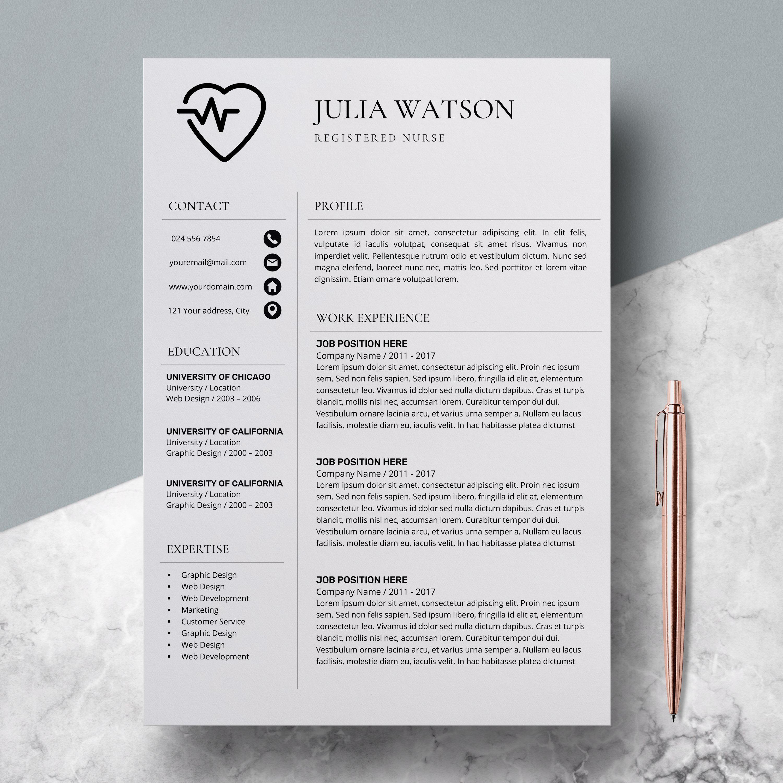 Professional Resume Template Nurse Cv Template Word Resume Nurse Resume Template Medical Modern Rn Resume Template Nursing Resume Template Resume Templates