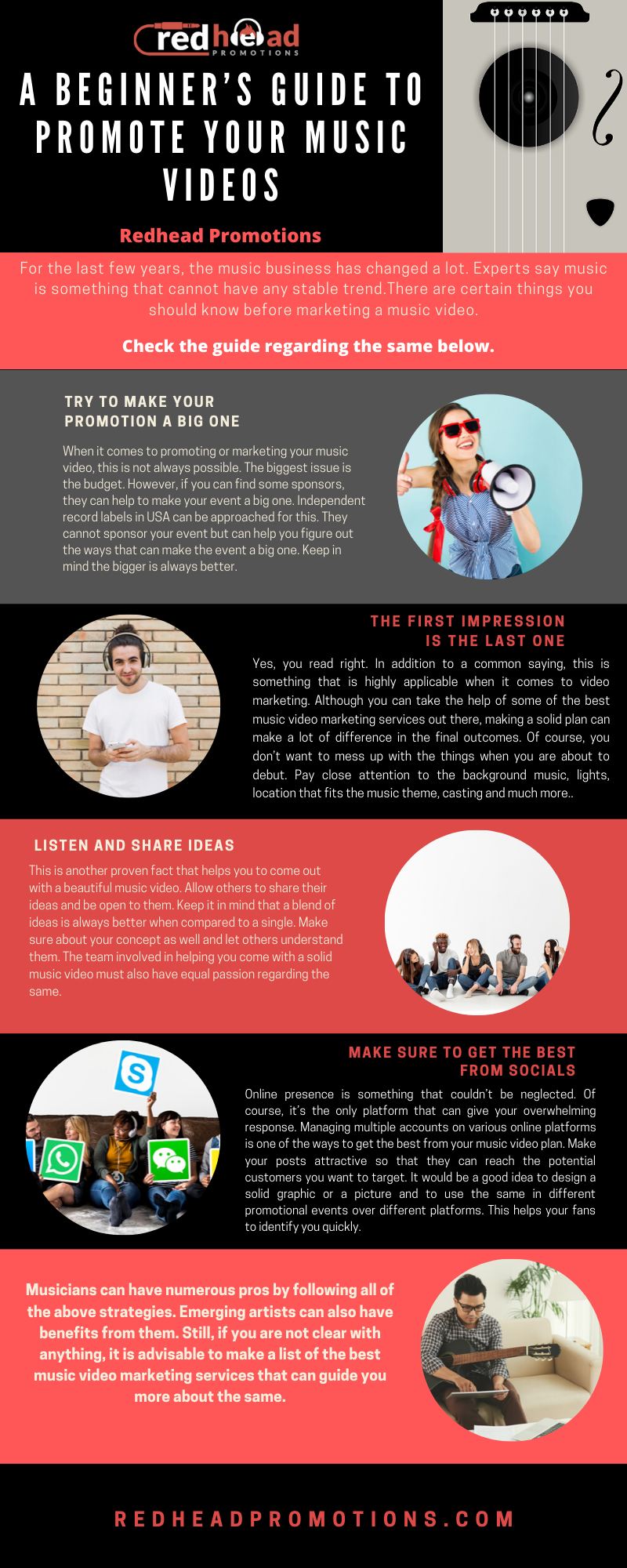Infographic A Beginner S Guide To Promote Your Music Videos Music Promotion Music Business Music Videos