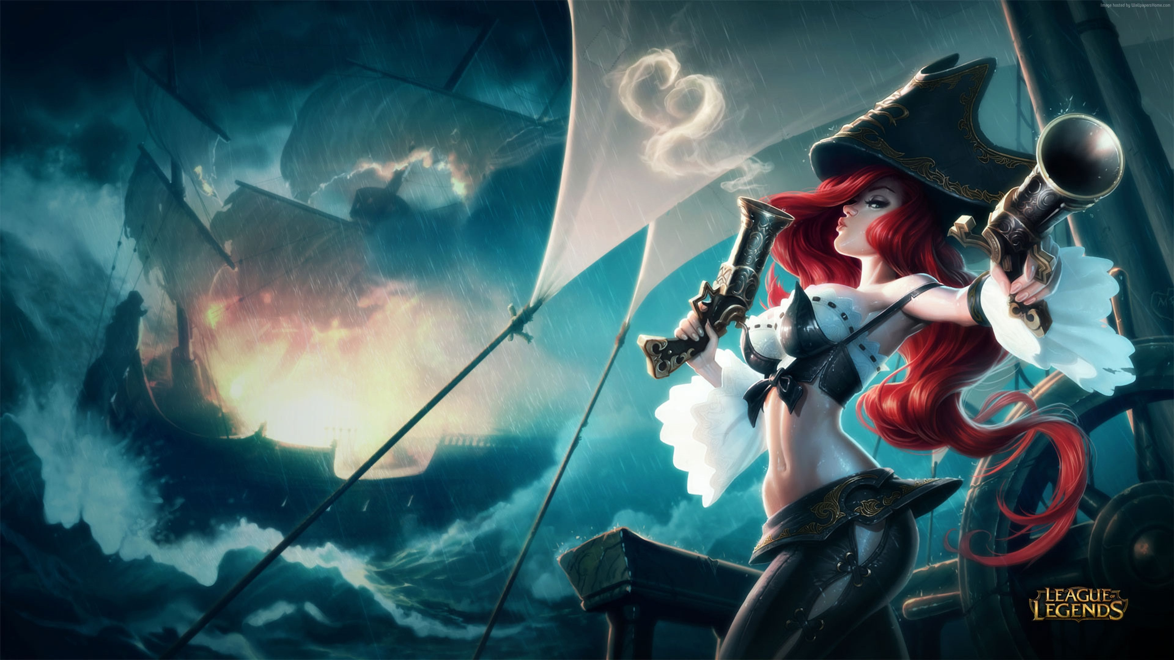 Desktophdwallpaper Org Miss Fortune League Of Legends Characters League Of Legends Game