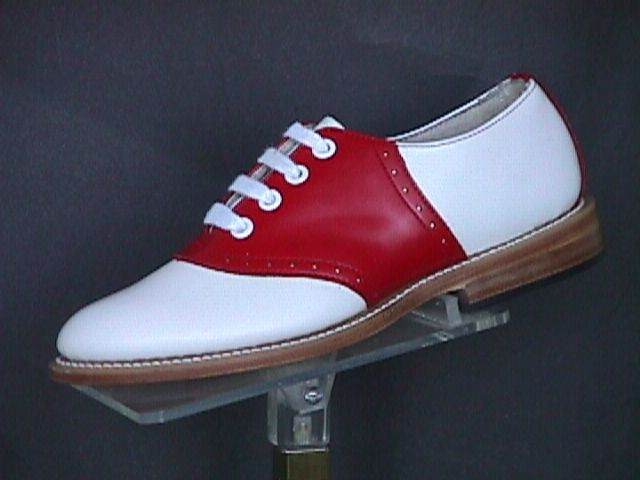 red white saddle shoes - DIY on a pair