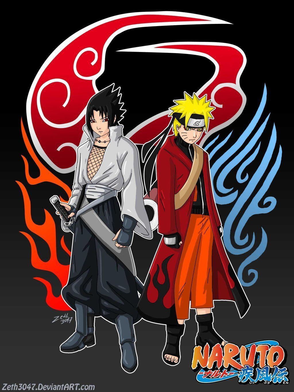Naruto Wallpapers Naruto Vs Sasuke Fanart By Zoppine On Fandom Anime Wallpaper Kartun Logo Keren Seni