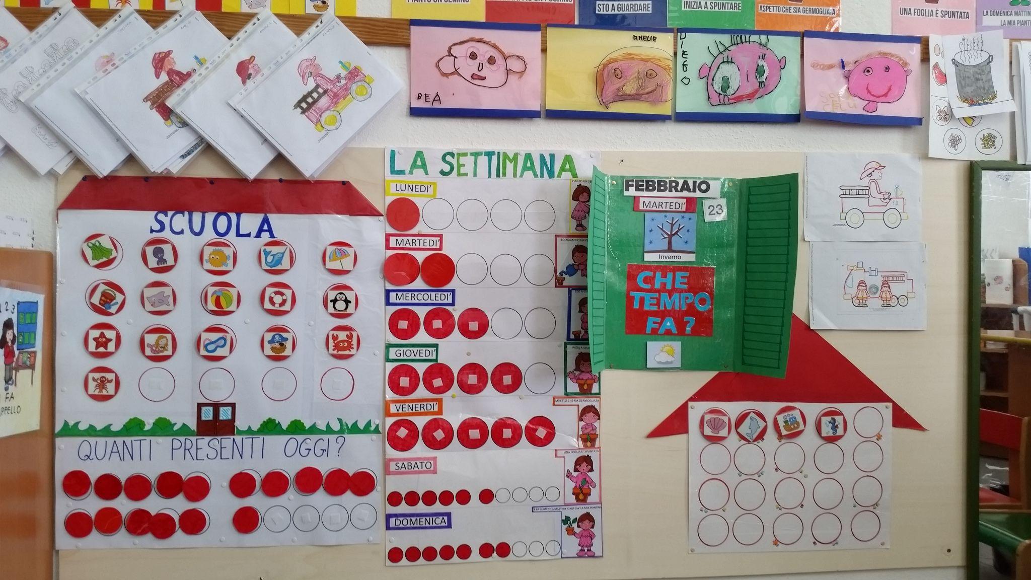 Costruire Calendario Scuola Infanzia.Angolo Completo Appello E Attivita Di Routine Metodo