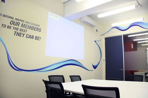 Creative ideas for adding some branding to your office walls 10m