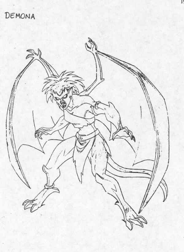 Demona Model Sheet Character Design By Greg Guler Gargoyles Disney Gargoyles Characters Disney Designs
