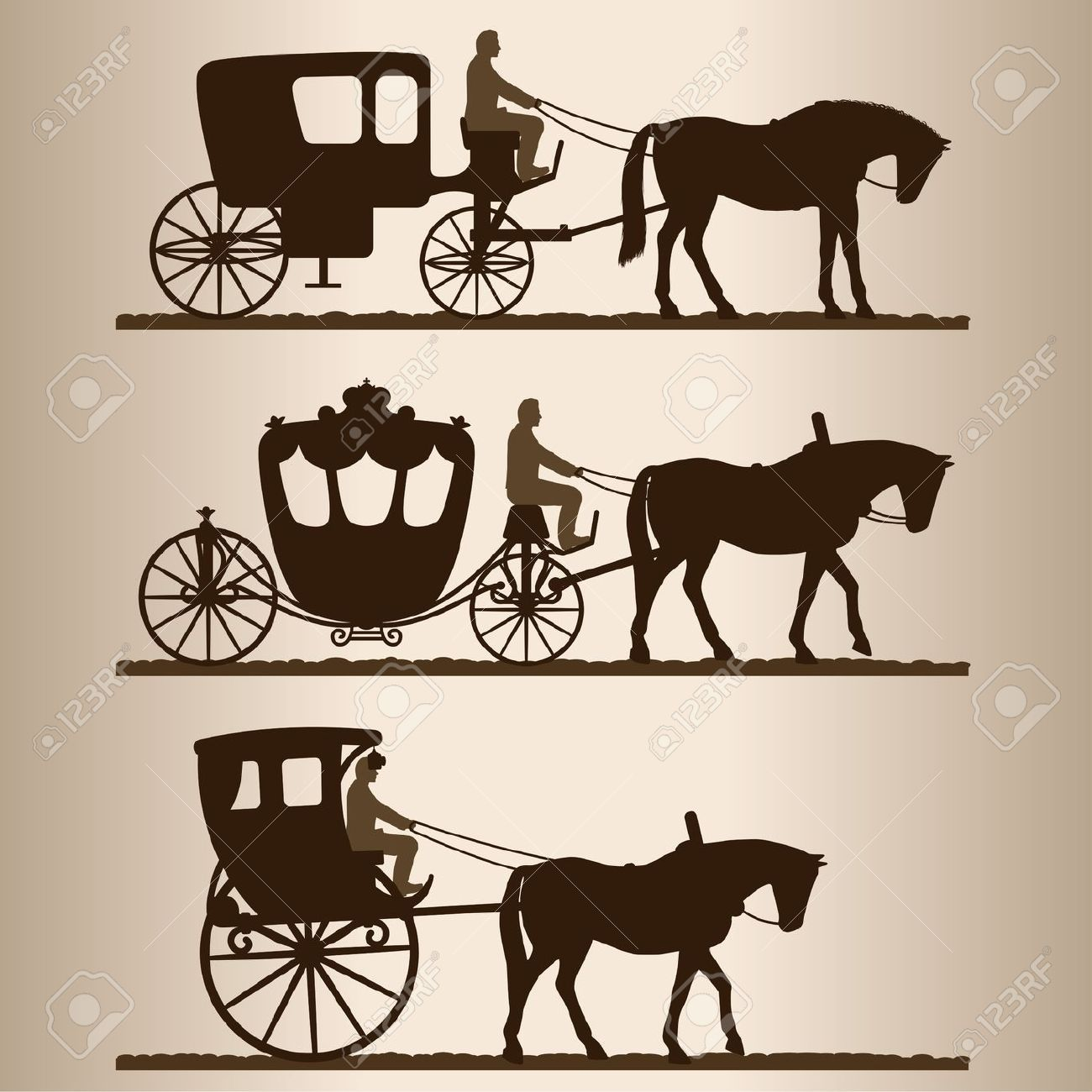 Horse Racing Track Vector Stock Images, Royalty-Free ... |Metal Horse And Buggy Silhouette