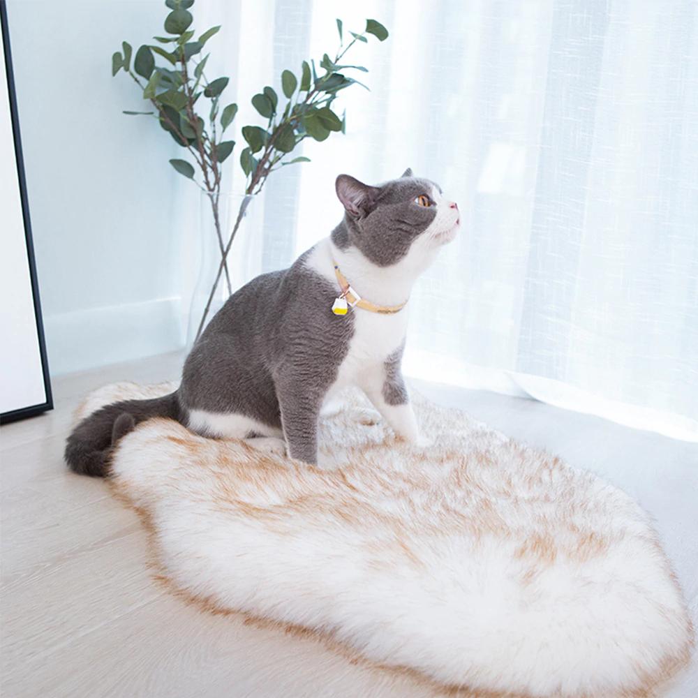 Fluffy Pet Dog Bed Mat Warm Soft Dog Rug Long Plush Dog