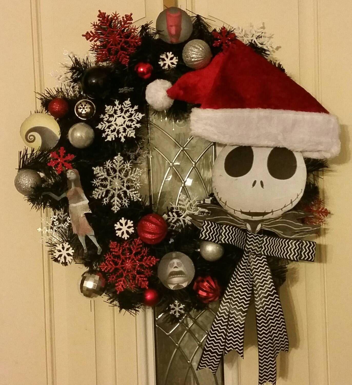 Custom Jack Skellington Nightmare Before Christmas Wreath by TinasCrafts05  on Etsy https://www