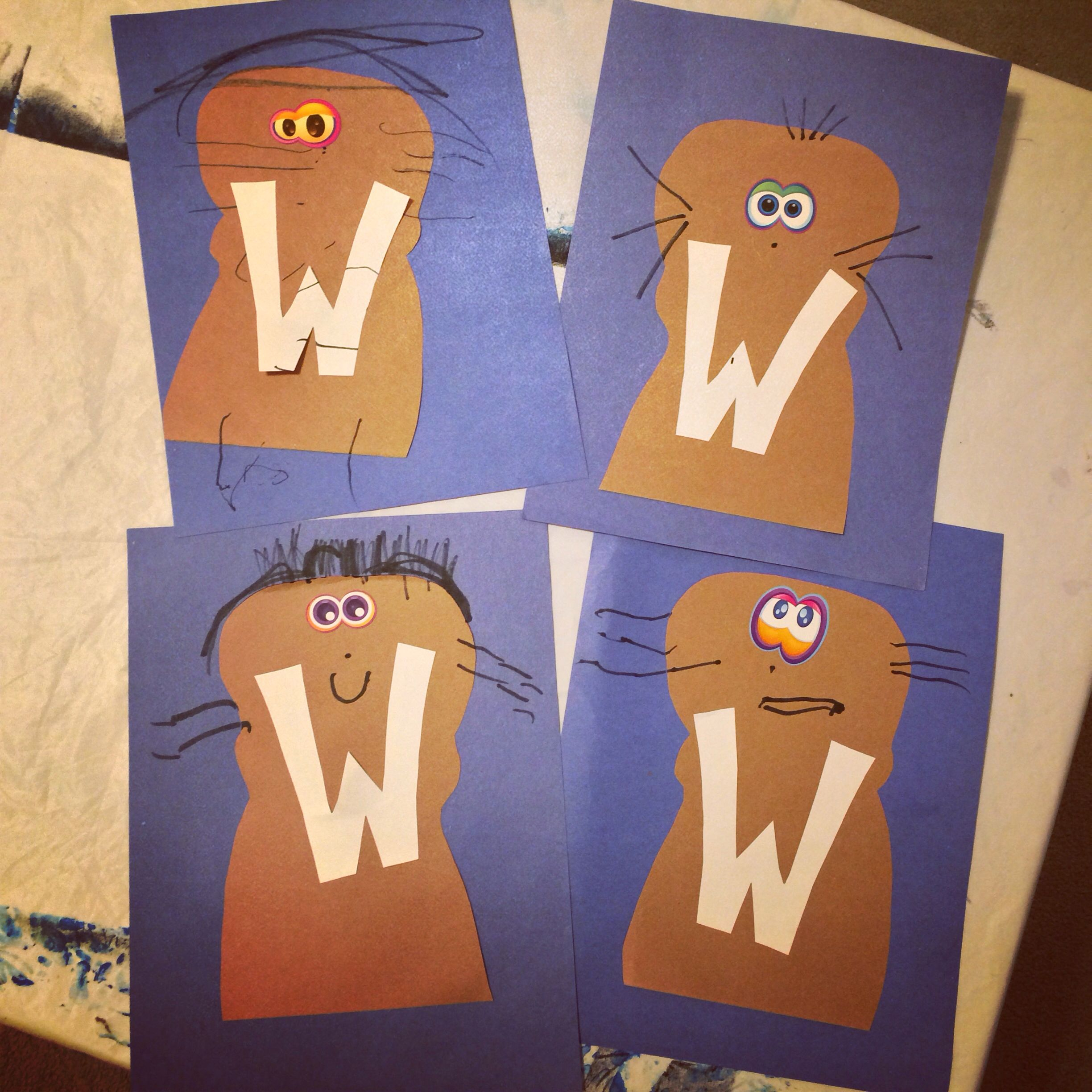 W Is For Walrus Great Letter Craft For Preschoolers And Toddlers Learning The Alphabet