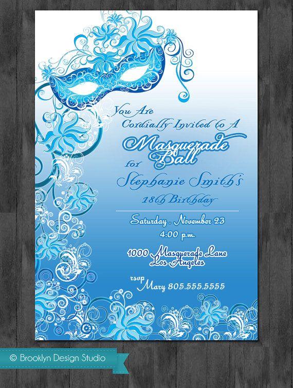 Masquerade Party Invitation party ideas – Masquerade Birthday Invitations