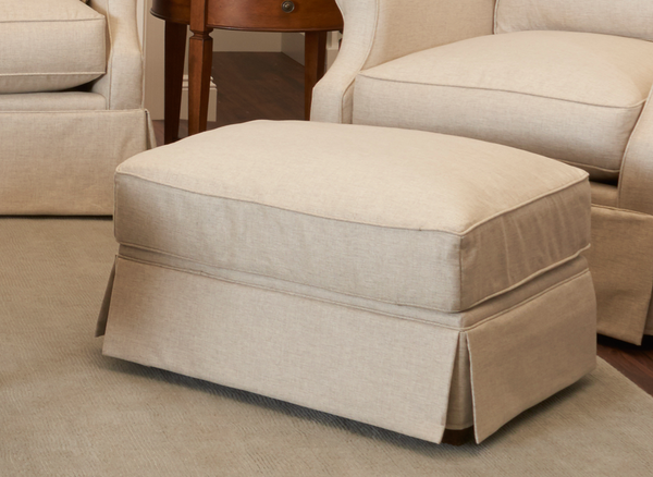 Perfect for an extra seat or a place to rest your feet, this ottoman makes a lovely addition to your living area.