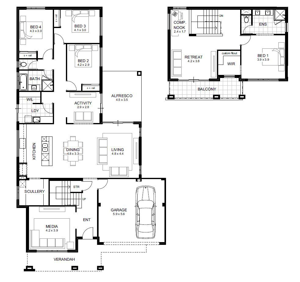 4 Bedroom House Designs Perth Double Storey Apg Homes House Designs Pinterest Perth