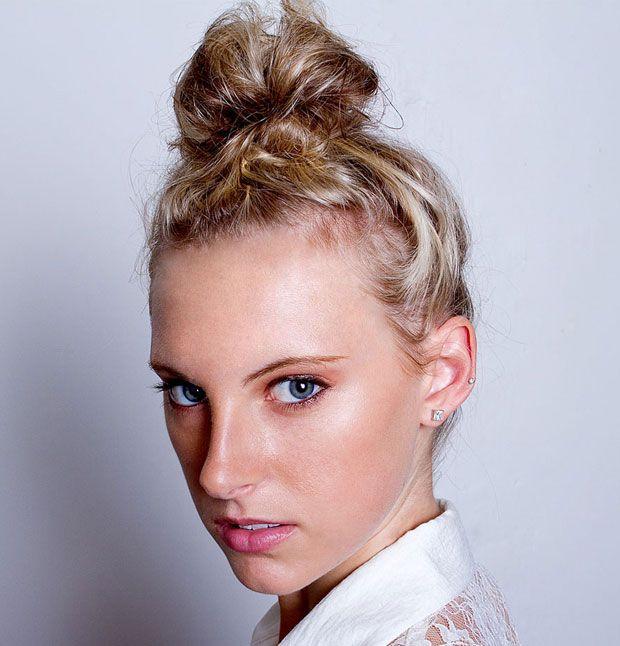 Amazing 1000 Images About Top Knots On Pinterest Top Bun Eva Longoria Short Hairstyles Gunalazisus