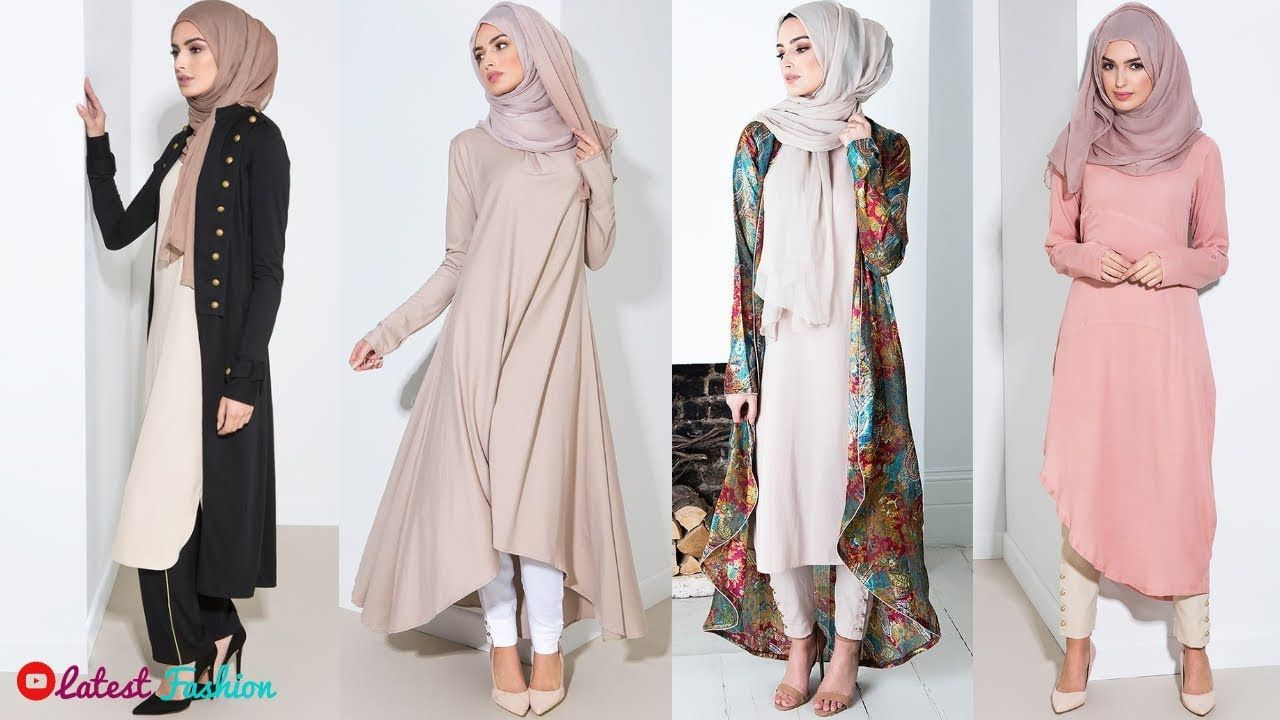 729888070fd4 Arabic Style Long Kurti With Hijab Ideas || Pakistani Long Kurti Designs.