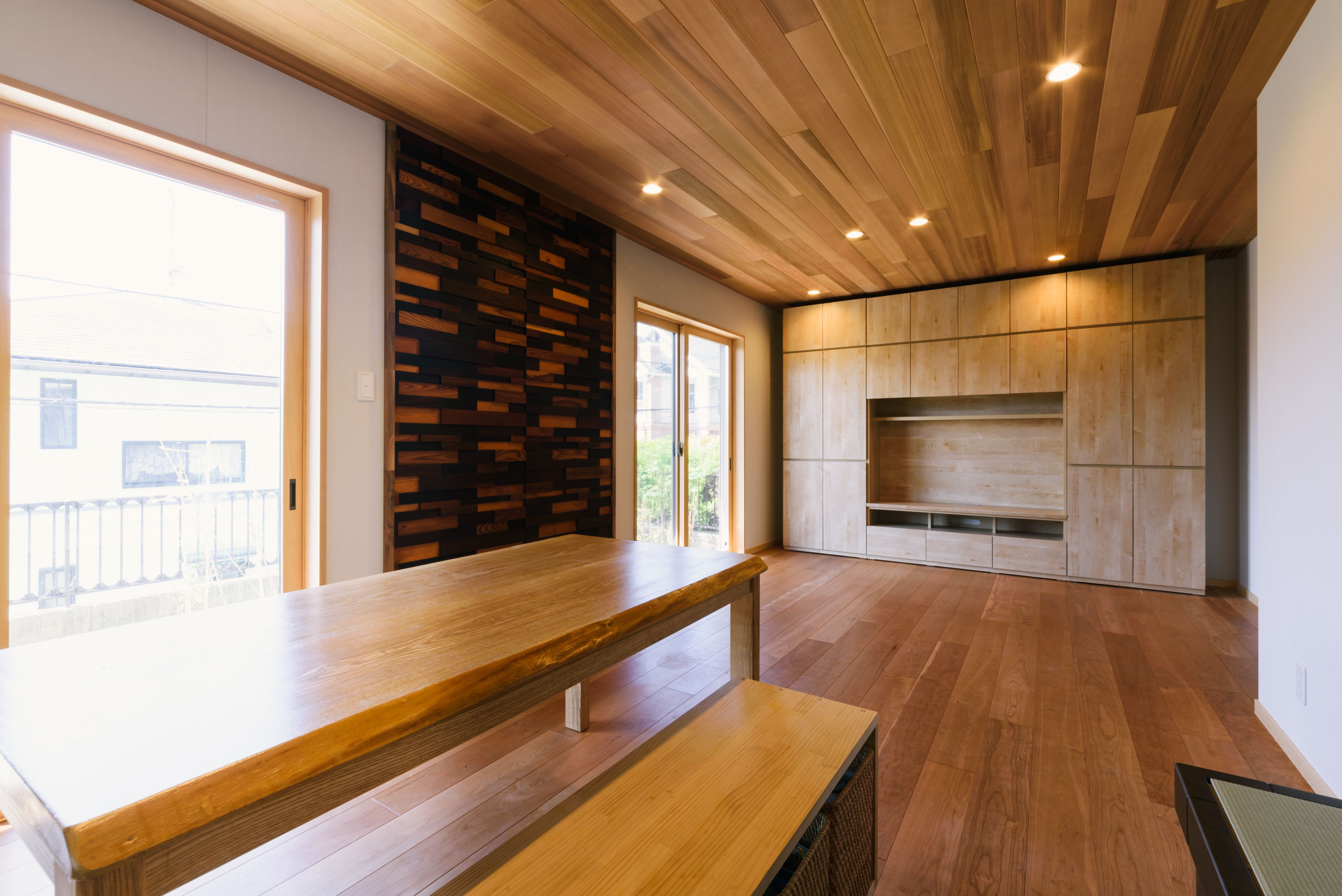 ブラックチェリー床暖房対応複合フローリング フローリング 床 一戸建て