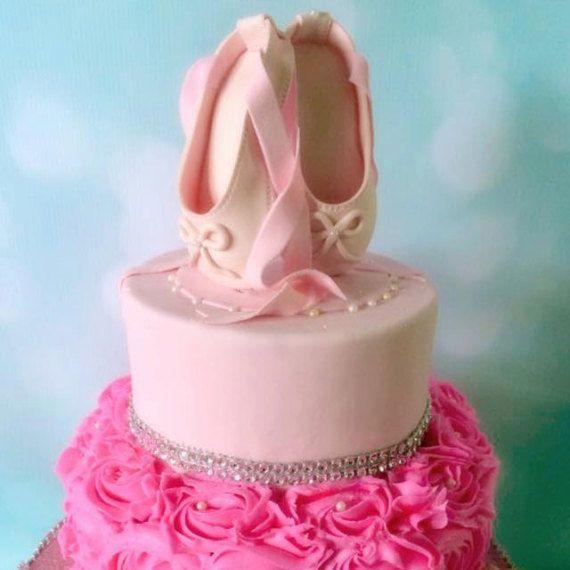 Ballerina Cake Topper Gumpaste Ballet Shoe Ballerina Birthday Topper